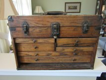 """Antique Wooden Tool Box with 7 Drawers**Flip Back Top** 20"""" x 9"""" x 14"""" in Elgin, Illinois"""