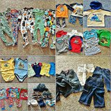A box of Boy's cloths sizes 12-18 months and two pairs of shoes. in Camp Pendleton, California