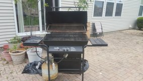 Char Broil Grill with side unused Burner Propane tank included in Aurora, Illinois