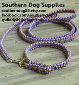 Paracord Dog collar and leash set great gift for pet lovers in Beaufort, South Carolina