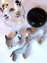 Dog shapes cookie cutter or treat cutters with jar in Beaufort, South Carolina