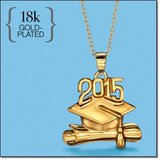 18k Gold Plated Graduation Pendant 2015 REDUCED PRICE in Alamogordo, New Mexico