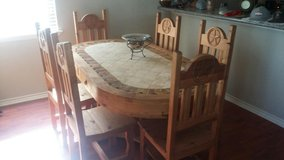Rustic Kitchen Table & Armoire in Kingwood, Texas