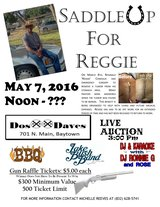 Reggie Comeaux Benefit - Saturday, May 7th in Baytown, Texas