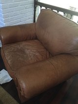 Oversize Lether Chair with Ottoman in Wilmington, North Carolina