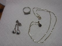Set of 925 necklace, earrings & ring in Alamogordo, New Mexico