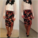flowery vintage pencil skirt in Baumholder, GE