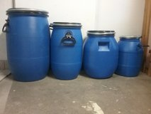 barrels with lid and handles in Ramstein, Germany