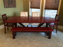 Farmhouse kitchen table in Kingwood, Texas