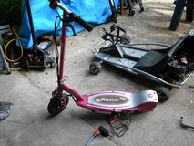 Razor E100 pink scooter New Batts! in Camp Lejeune, North Carolina