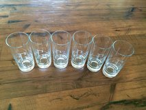 Lot of 6 Monogrammed Glasses in Fort Leonard Wood, Missouri
