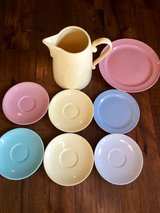 Lu-Ray Pastels 9 piece lot with matching pitcher in Fort Leonard Wood, Missouri