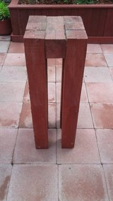 Wood plant stand in Oceanside, California
