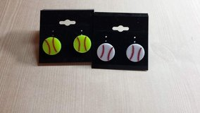 Softball baseball earrings in Byron, Georgia