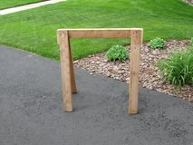 Wood Sawhorse in Aurora, Illinois