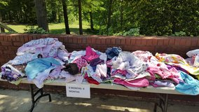 lot of girls 6 to 9 month clothes in Fort Benning, Georgia