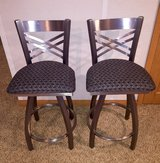 Two Stainless Steel Swivel Bar Stools in Batavia, Illinois