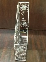 Silver Flower Metal Magazine Holder in The Woodlands, Texas