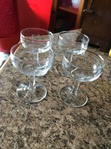 Set of 4 Crystal Champagne Goblets/Coupes in Camp Lejeune, North Carolina