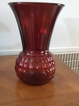 Vintage Art Deco Ruby Red Large Vase in Camp Lejeune, North Carolina