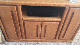 tv stand unit-wood $75 OBO in MacDill AFB, FL