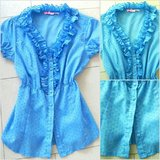 light blue blouse sz small in Ramstein, Germany