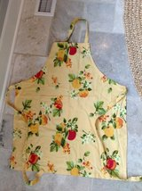 Yellow Fruit Apron - Cotton with Tie Waist & Adjustable Neck Strap in Glendale Heights, Illinois