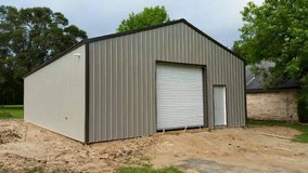 30x40x10 Post Frame Building with Slab in Kingwood, Texas