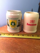 2 BEER STONE WARE STEINS FROM GERMANY and BELGIUM in Aurora, Illinois