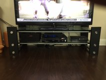 Glass/metal TV stand in MacDill AFB, FL