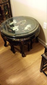 Oriental table with 4 stools in Lawton, Oklahoma