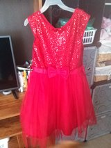 Girls size 14 Dress with Sparkles and Bow in Fort Campbell, Kentucky