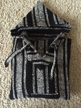 Black/White Striped Baja Pullover-Adult Small in Westmont, Illinois