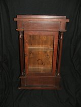Antique Ogee Pillar Mahogany Weight Clock Case Display Early American in Aurora, Illinois