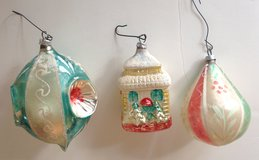 3 Very Old Vintage Glass Christmas Ornament West Germany 1940's? in Houston, Texas