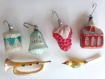 6 Very Old Vintage Glass Christmas Ornament West Germany 1940's? in Houston, Texas
