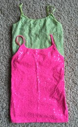Justice Sequined Tank Tops-Size 12 in Aurora, Illinois