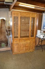 Lighted Oak China Hutch in Fort Lewis, Washington