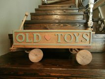 Vintage handmade kids wooden toy wagon in Cleveland, Texas