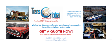 Do you need to ship your vehicle back to US? in Ramstein, Germany
