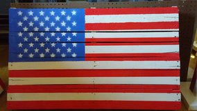 Pallet flag in Hinesville, Georgia
