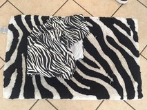 Zebra rug and zebra shower curtain in Clarksville, Tennessee