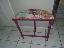 Demilune painted side table in Naperville, Illinois
