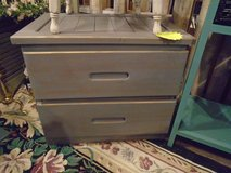 painted 2 drawer farm side table in Naperville, Illinois