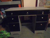 black and gray shabby chic desk in Naperville, Illinois