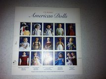 Classic American Dolls .32 Stamp Sheet - Exc in Chicago, Illinois