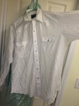 Wrangler western pearl snap white dress shirt with quite a few other large shirts in Wilmington, North Carolina