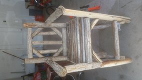 Real wooden chair from big bear in 29 Palms, California