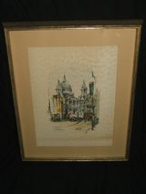 Jan Korthals St. Paul's Cathedral London Signed Watercolor print in Naperville, Illinois