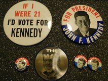 Kennedy Political Pins in Glendale Heights, Illinois